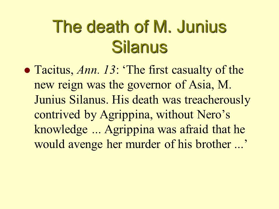 The death of M. Junius Silanus l Tacitus, Ann.