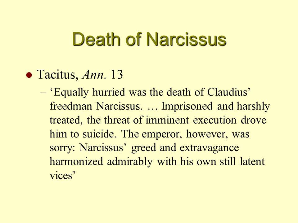 Death of Narcissus l Tacitus, Ann.