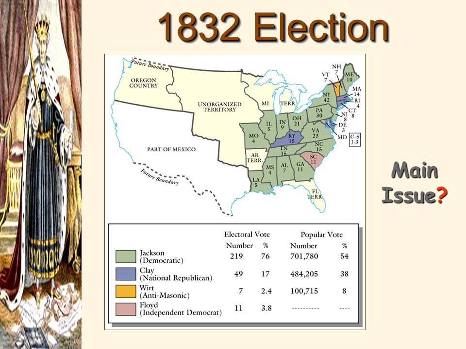 1832 Election Results Main Issue?