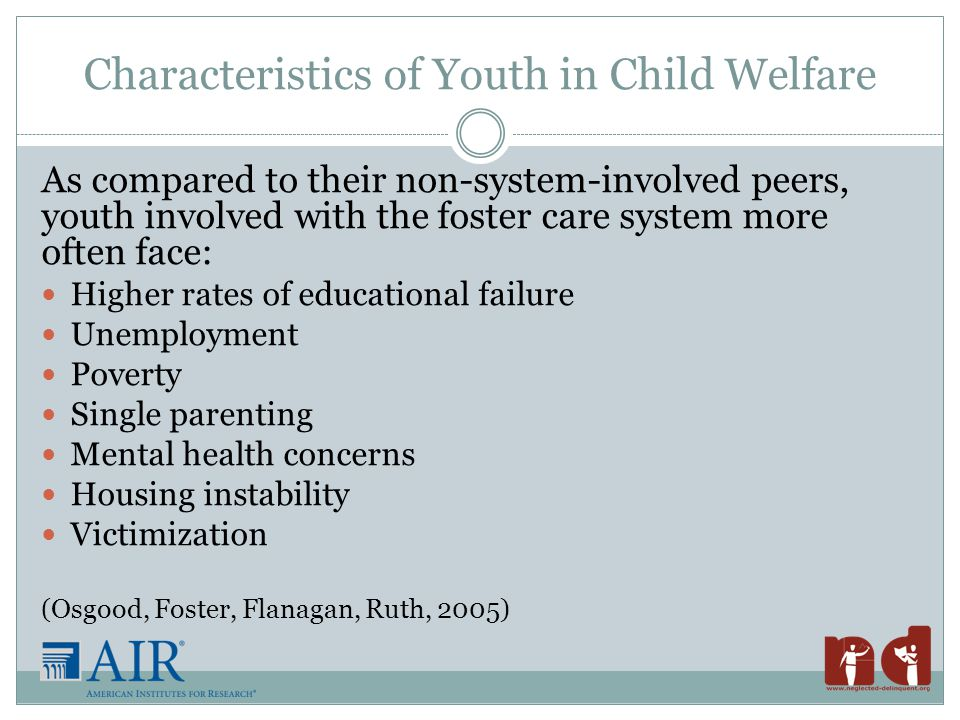 Collaboration is Key Unfortunately, many agency policies, practices, and services intended to help youth involved in the child welfare system are often limited, duplicative, and/or fragmented.