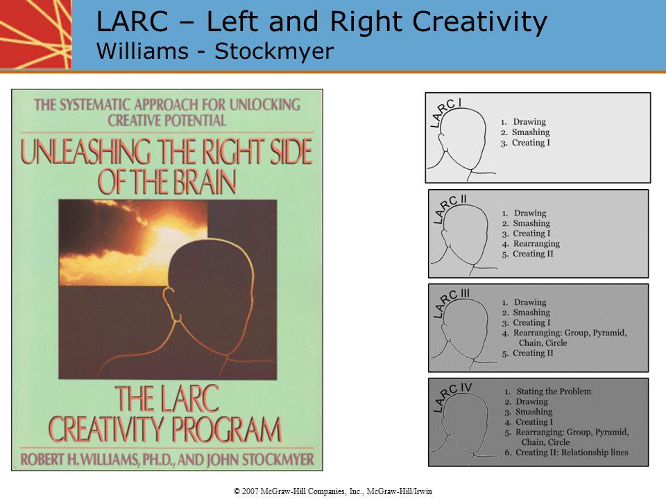 LARC – Left and Right Creativity Williams - Stockmyer © 2007 McGraw-Hill Companies, Inc., McGraw-Hill/Irwin
