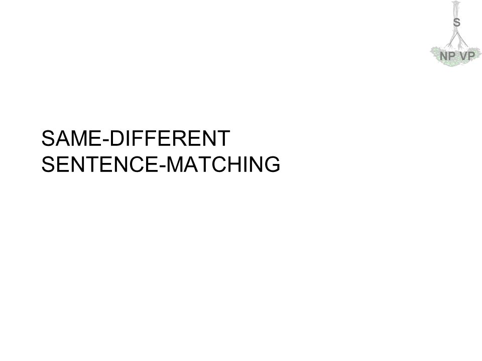 S NPVP SAME-DIFFERENT SENTENCE-MATCHING
