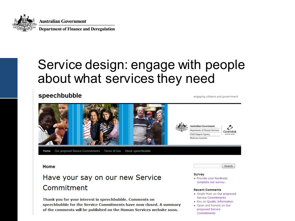 Service design: engage with people about what services they need