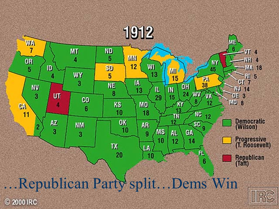 …Republican Party split…Dems Win