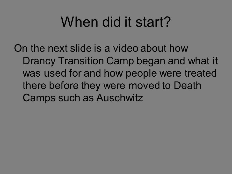 When did it start.