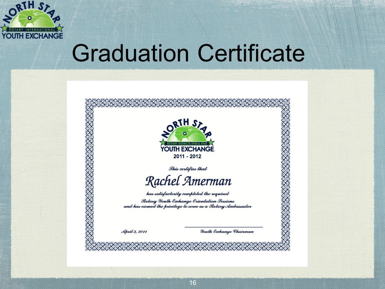 16 Graduation Certificate