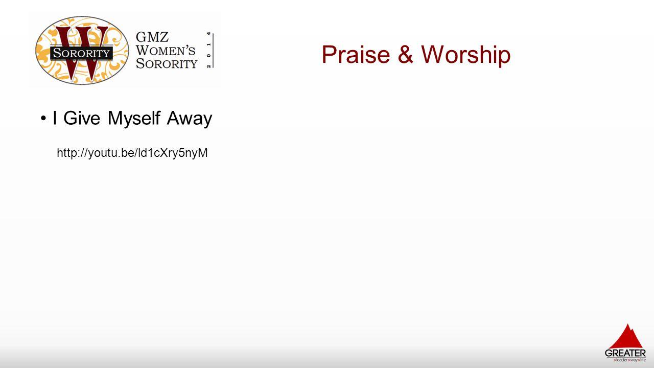 Praise & Worship I Give Myself Away http://youtu.be/ld1cXry5nyM
