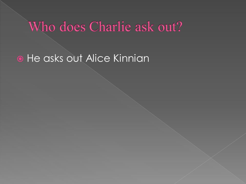  He asks out Alice Kinnian