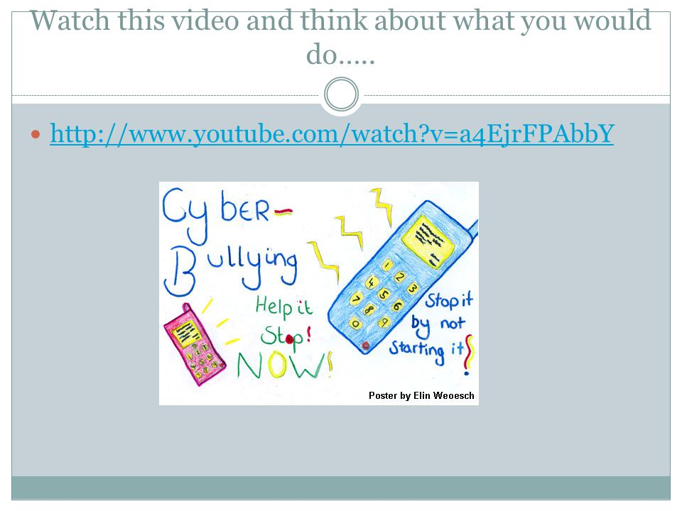 Watch this video and think about what you would do….. http://www.youtube.com/watch?v=a4EjrFPAbbY