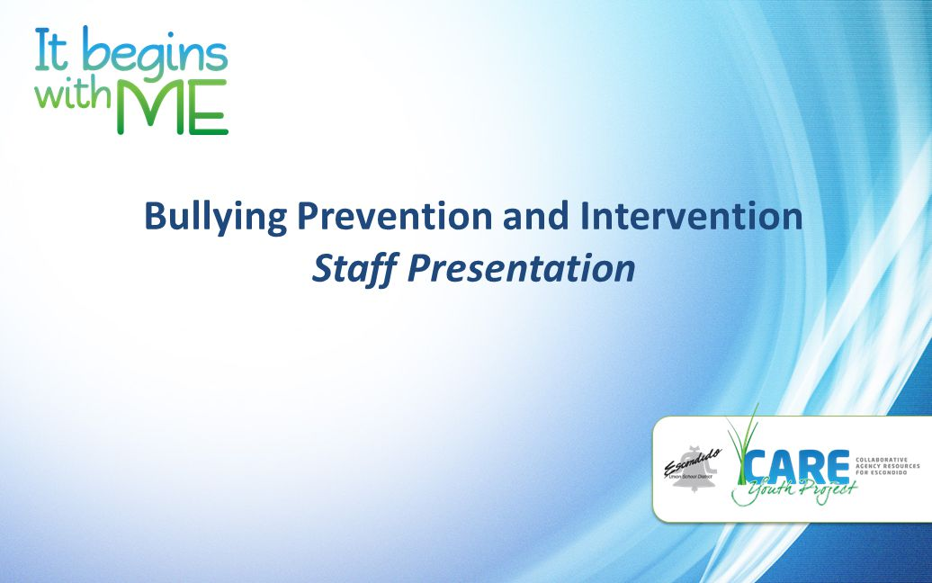 Bullying Prevention and Intervention Staff Presentation
