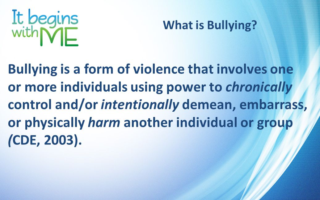 EUSD Bullying Prevention/Intervention Strategies If STUDENTS witness or experience bullying: Be Responsible Stop the bullying right away Make a report