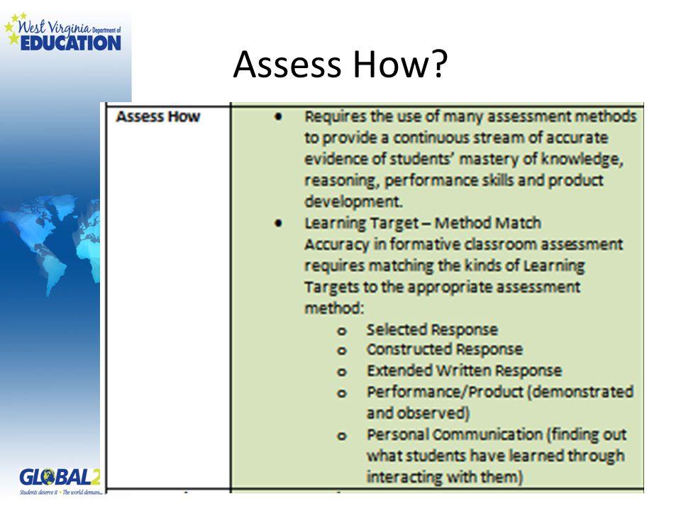 Assess How?