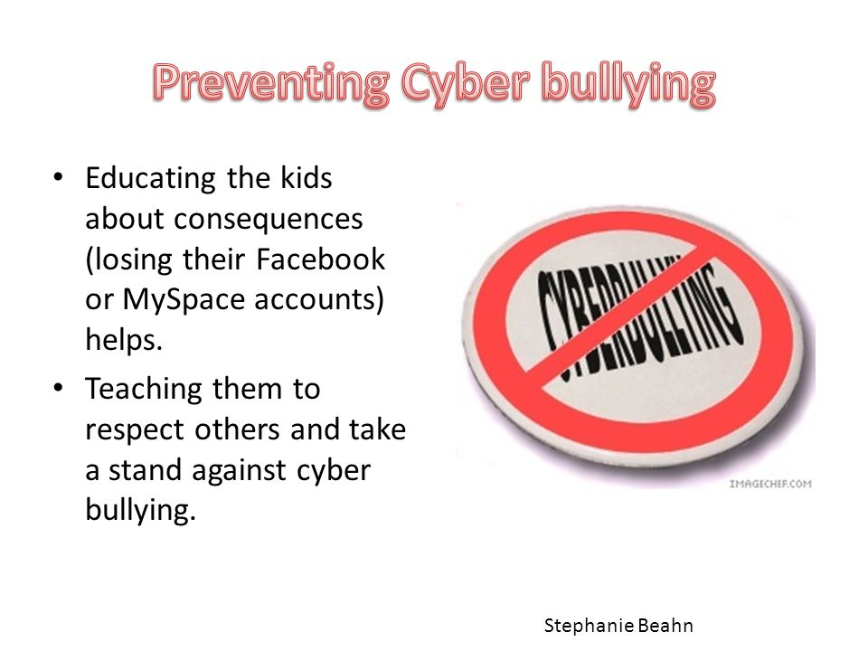 Educating the kids about consequences (losing their Facebook or MySpace accounts) helps.