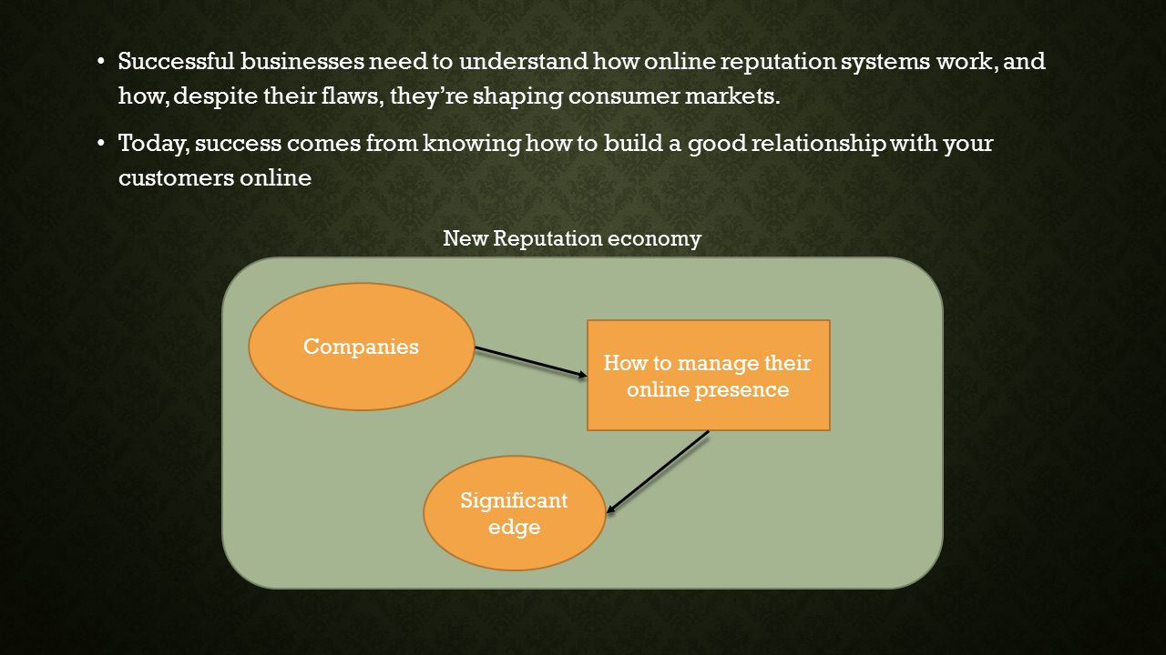 Successful businesses need to understand how online reputation systems work, and how, despite their flaws, they're shaping consumer markets.