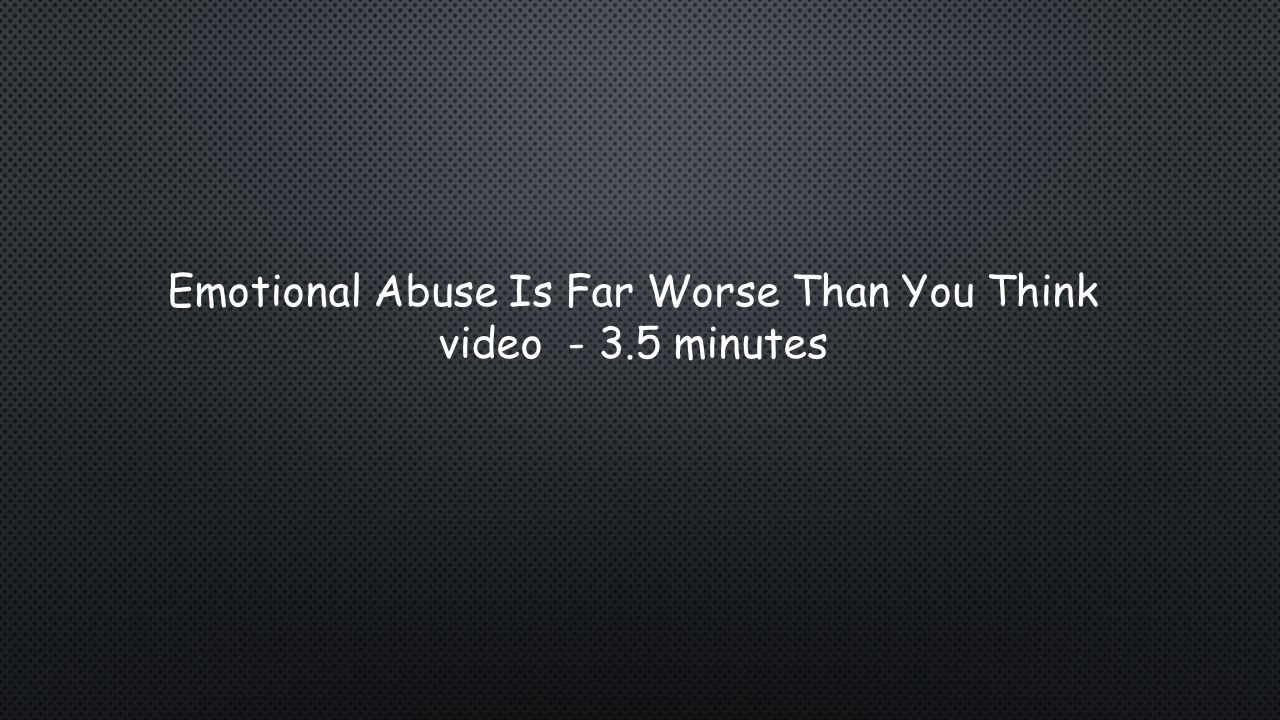 Emotional abuse signs and symptoms:  Delayed or inappropriate emotional development  Loss of self-confidence or self-esteem  Social withdrawal  Depression  Headaches or stomachaches with no medical cause  Avoidance of certain situations, such as refusing to go to school or ride the bus  Desperately seeks affection #10