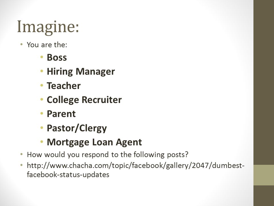 What If They Ask.What do you do if a current or prospective employer asks for access.