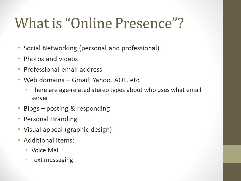 What is Online Presence .