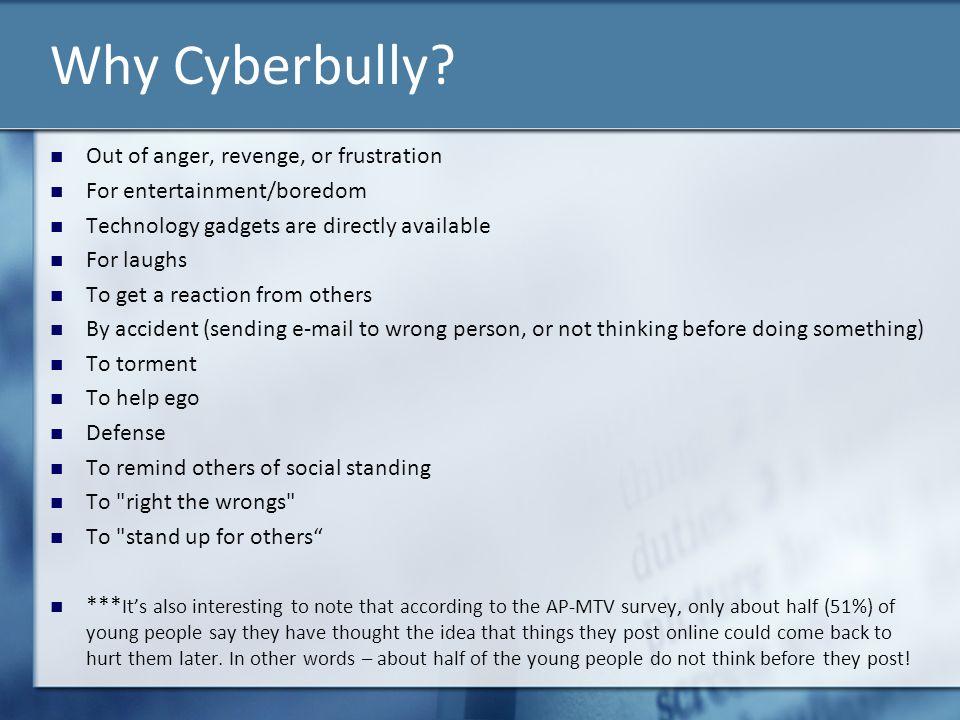 Why Cyberbully.