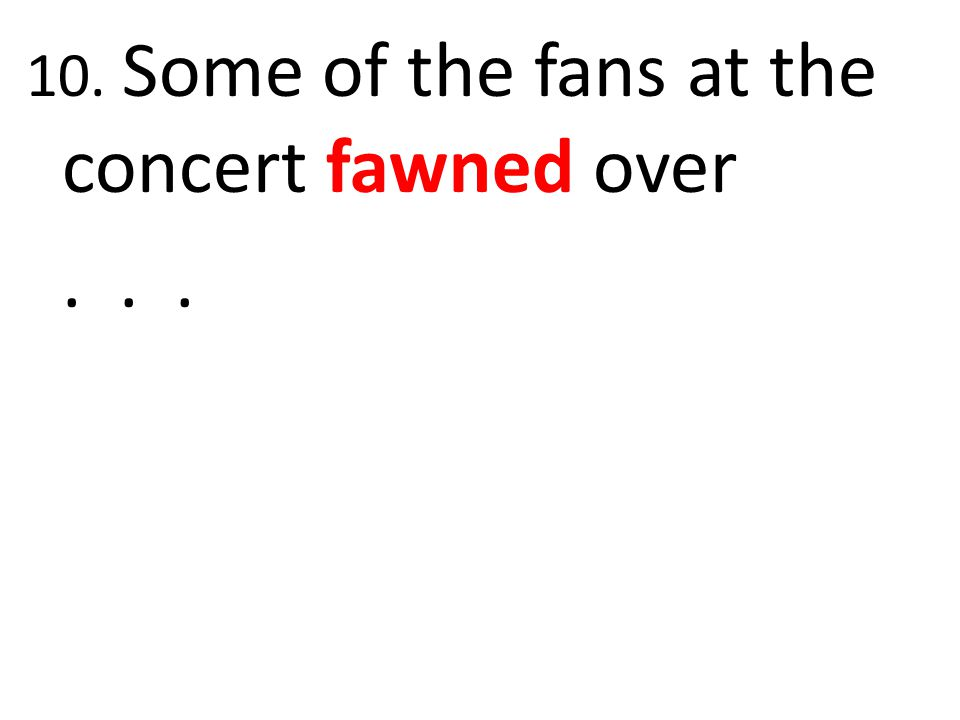 10. Some of the fans at the concert fawned over...