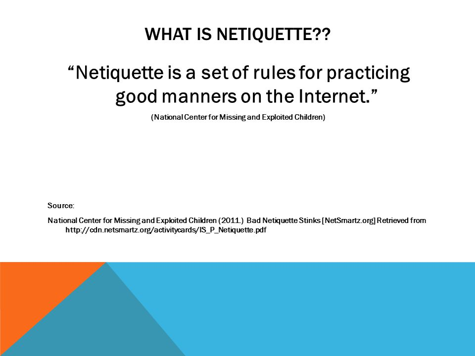 WHAT IS NETIQUETTE .