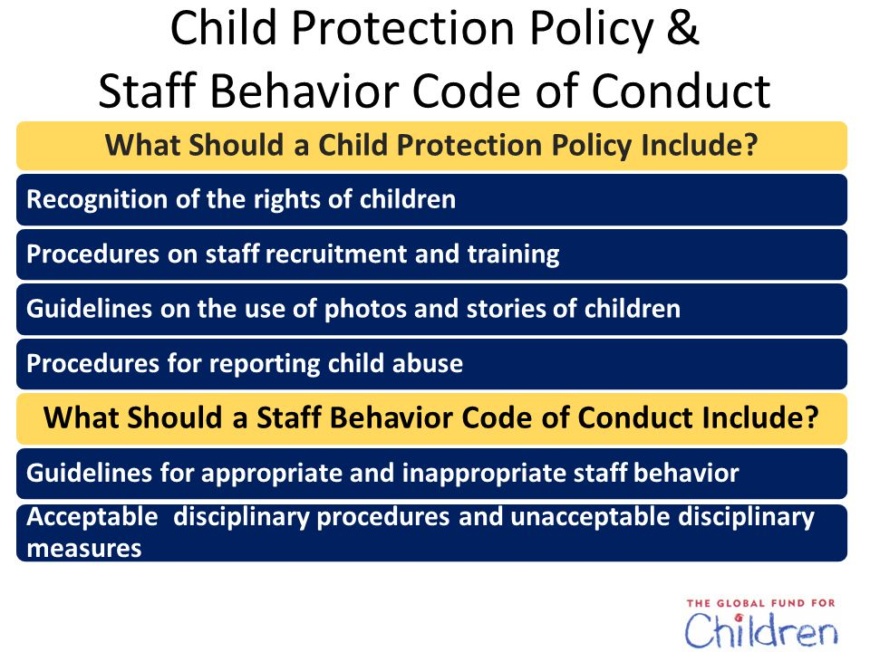 Child Protection Manual The Child Protection Manual includes information on all the topics we've discussed.