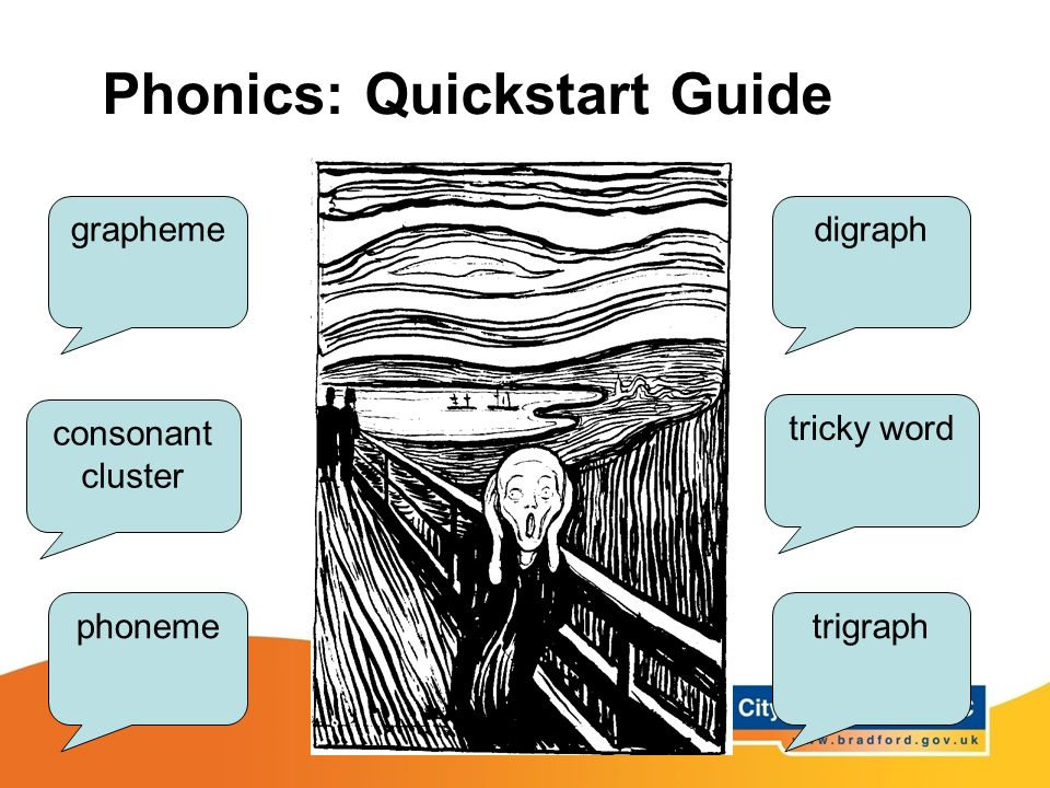 grapheme phoneme digraph trigraph consonant cluster tricky word Phonics: Quickstart Guide