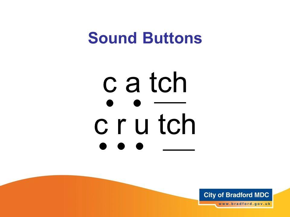 Sound Buttons c a tch c r u tch