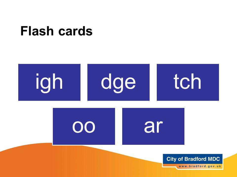 Flash cards ighdgetch ooar
