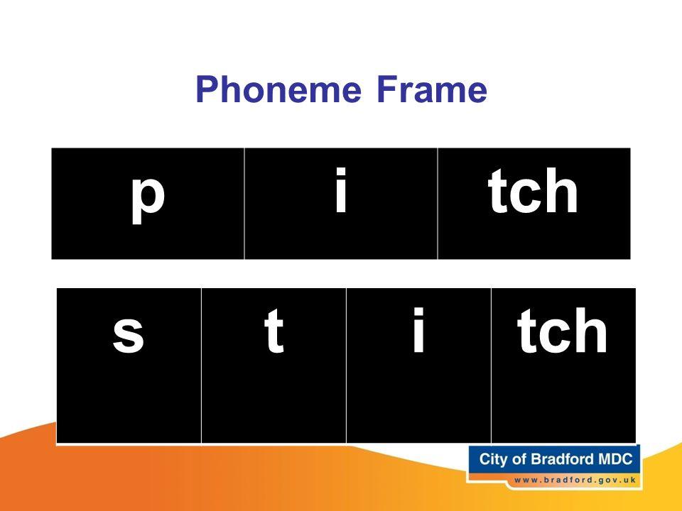 Phoneme Frame pitch sti