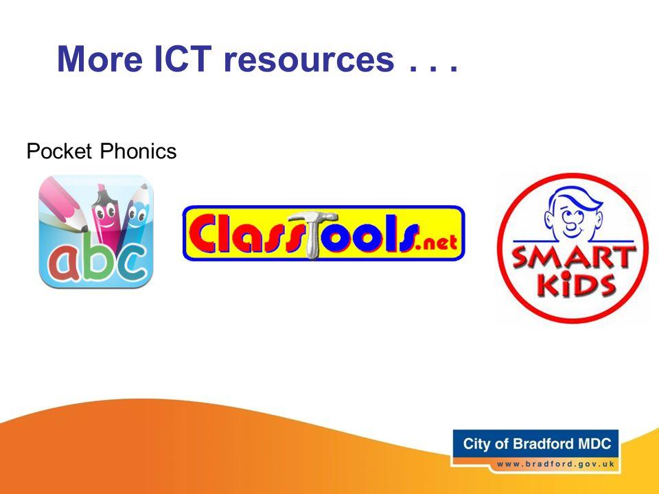 More ICT resources... Pocket Phonics