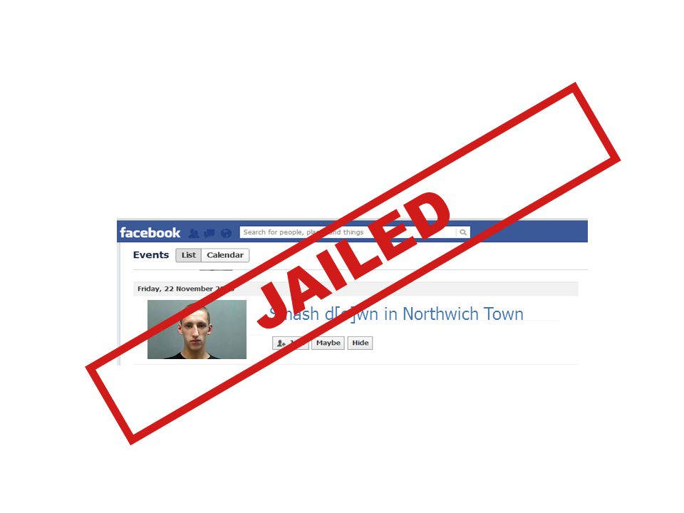 Smash d[o]wn in Northwich Town JAILED