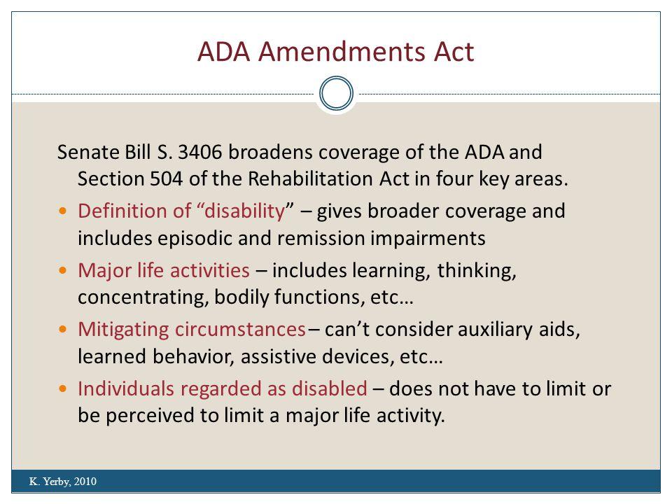 ADA Amendments Act Senate Bill S.
