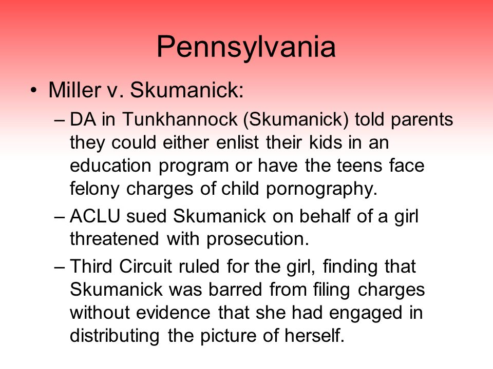 Pennsylvania Miller v.