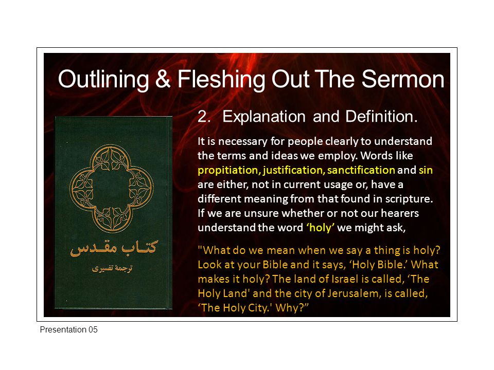 2.Explanation and Definition.