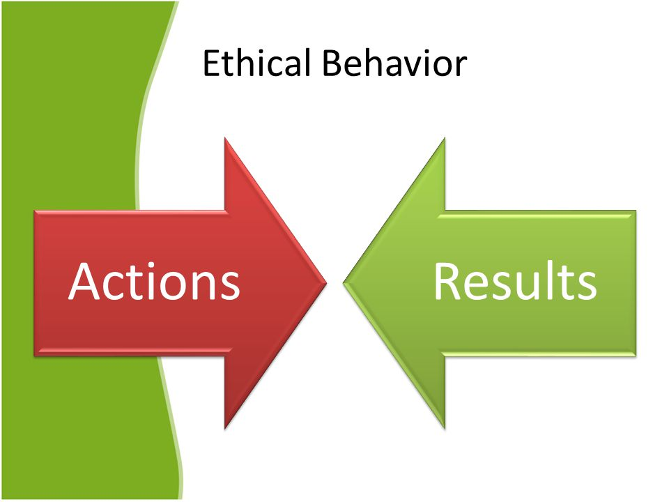 Ethical Behavior ActionsResults
