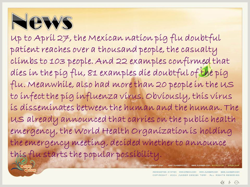Up to April 27, the Mexican nation pig flu doubtful patient reaches over a thousand people, the casualty climbs to 103 people.
