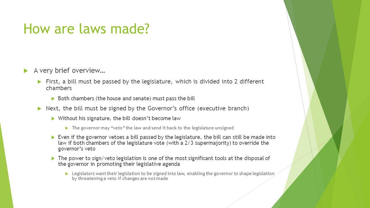 How are laws made.