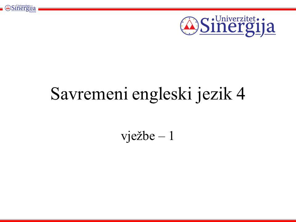 Savremeni engleski jezik 4 vježbe – 1