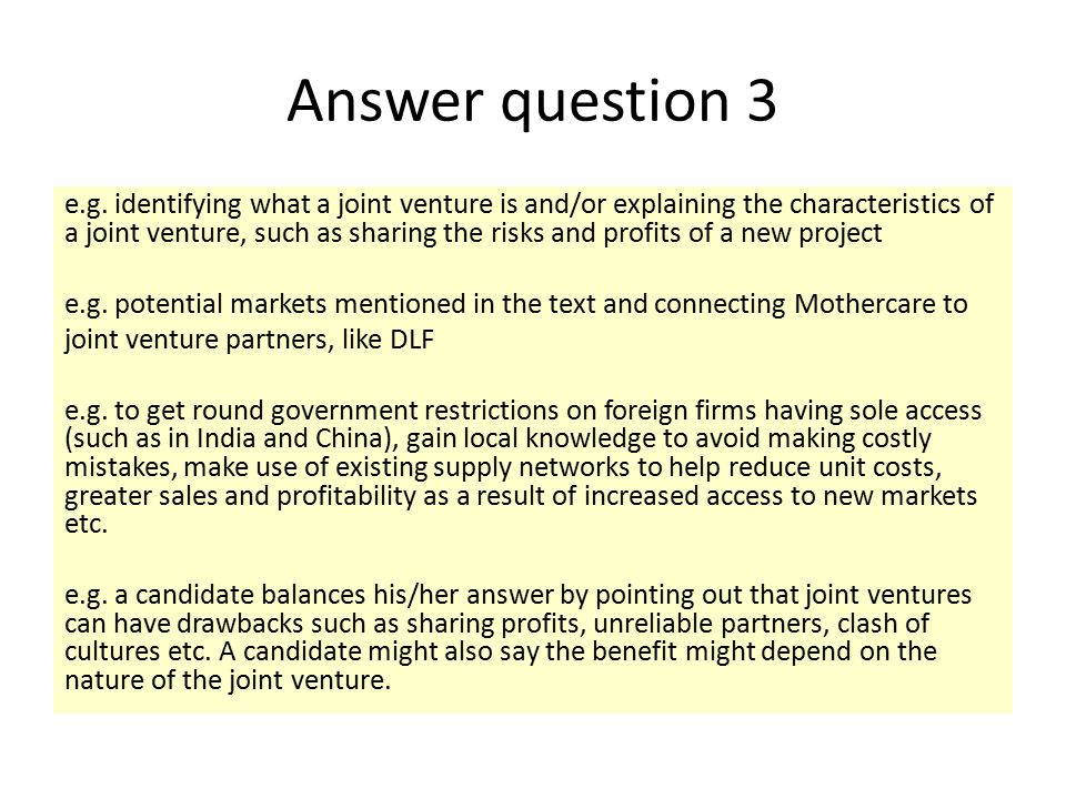 Answer question 3 e.g.