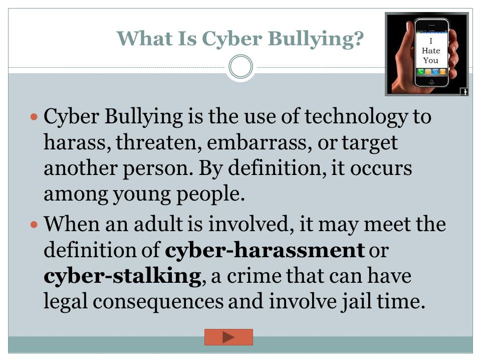 CYBER BULLYING Digital Awareness—Lesson 3