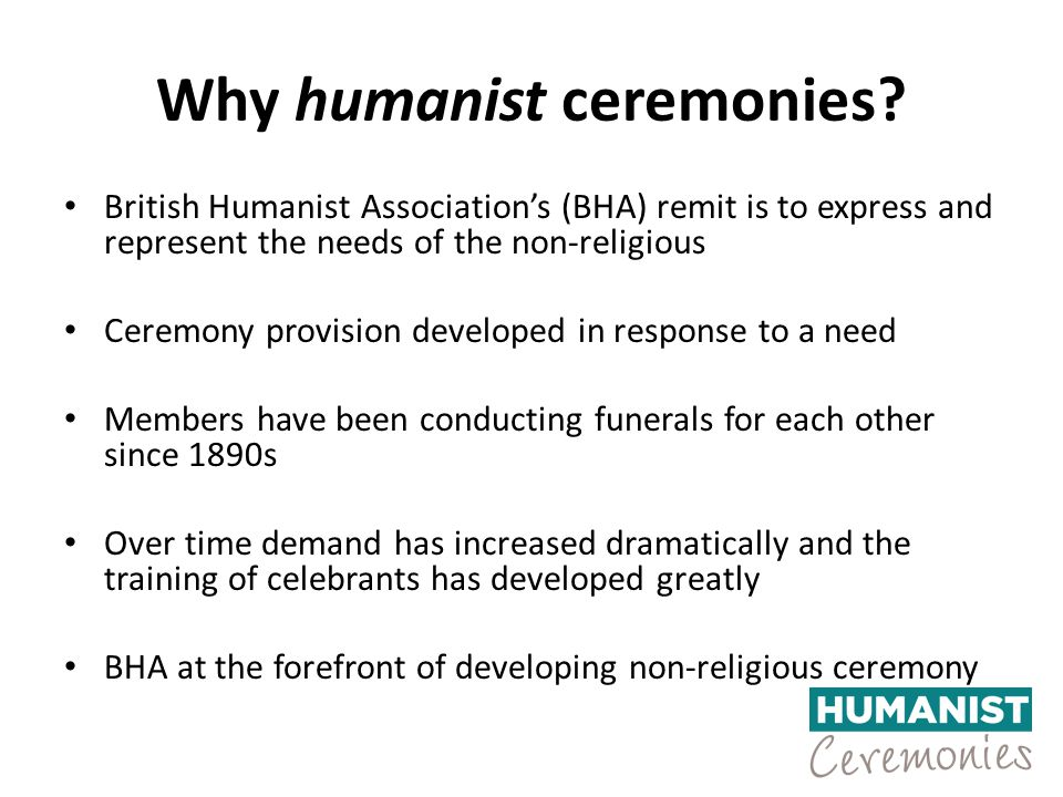 Why humanist ceremonies.