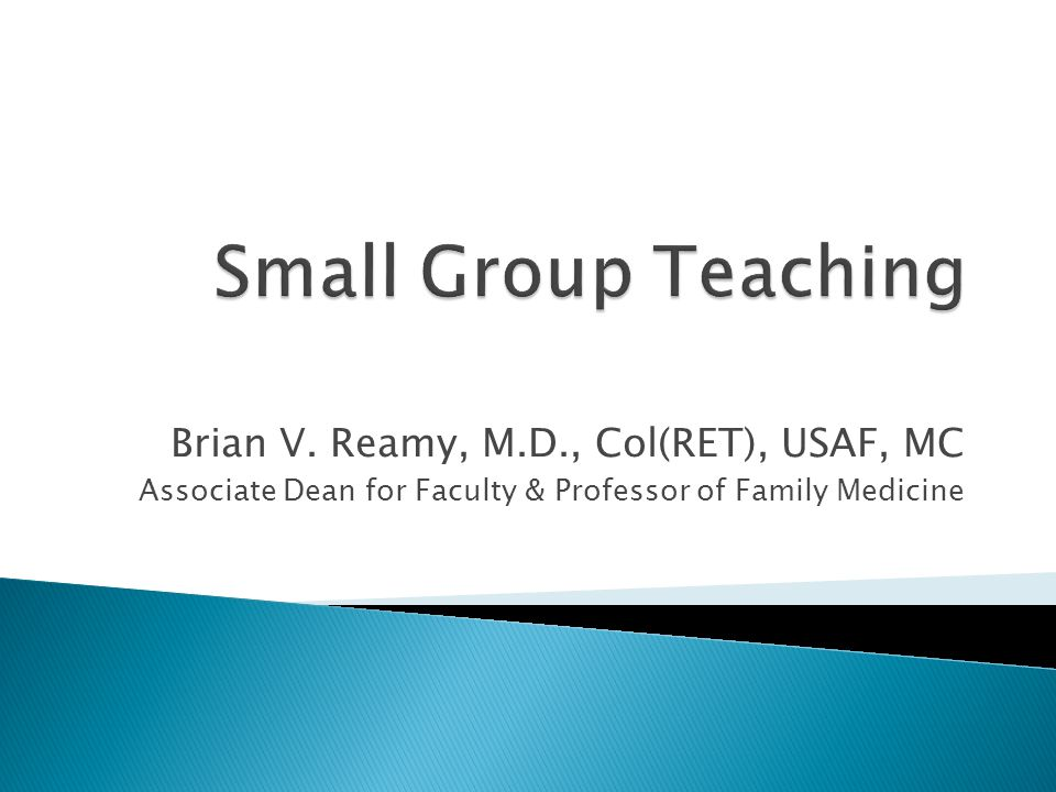 Brian V. Reamy, M.D., Col(RET), USAF, MC Associate Dean for Faculty & Professor of Family Medicine