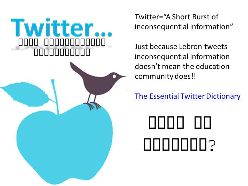 Free Professional Development Why Twitter .