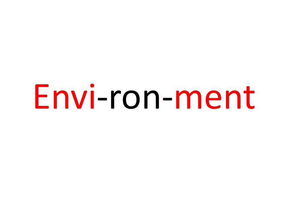 Envi-ron-ment