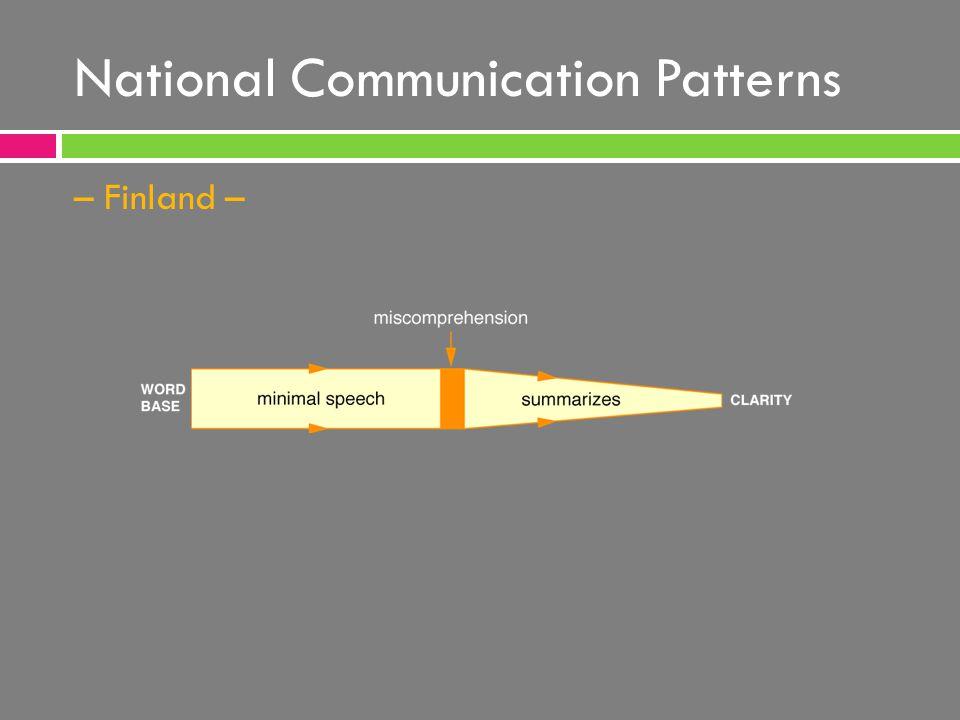 National Communication Patterns – Finland –