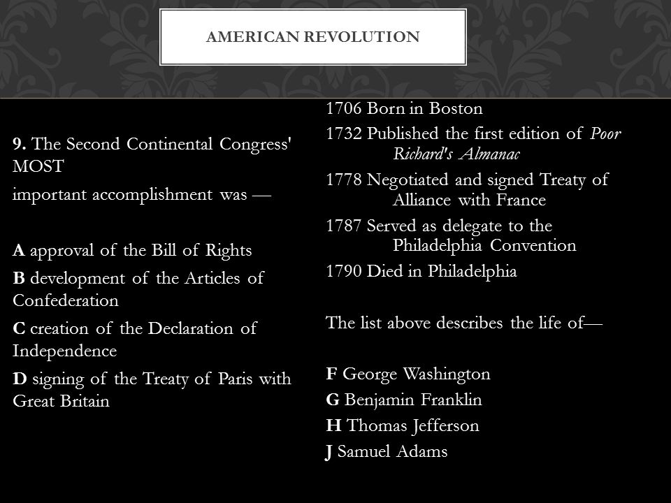 The Treaty of Paris (1783) gave the newly formed U.S.
