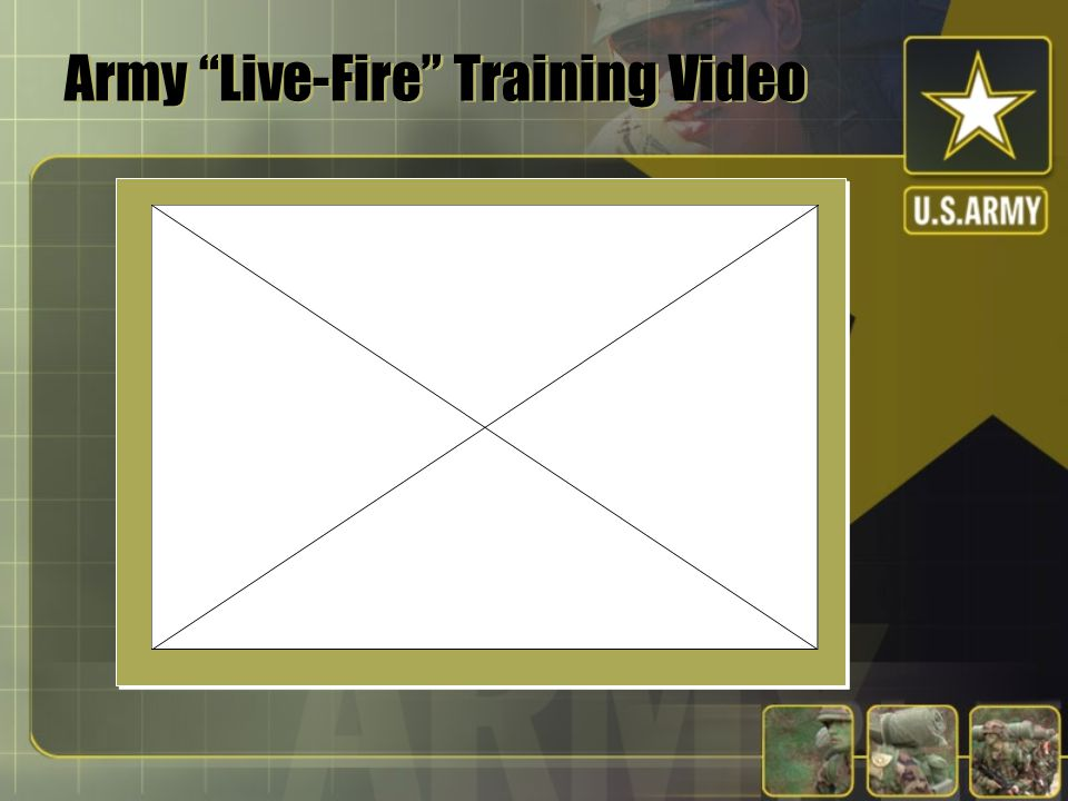 Army Live-Fire Training Video