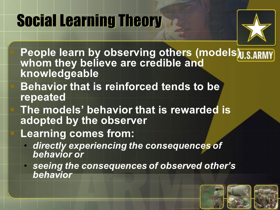 Reinforcement Theory  People perform or avoid behaviors because of past outcomes that have resulted from those behaviors positive reinforcement negat