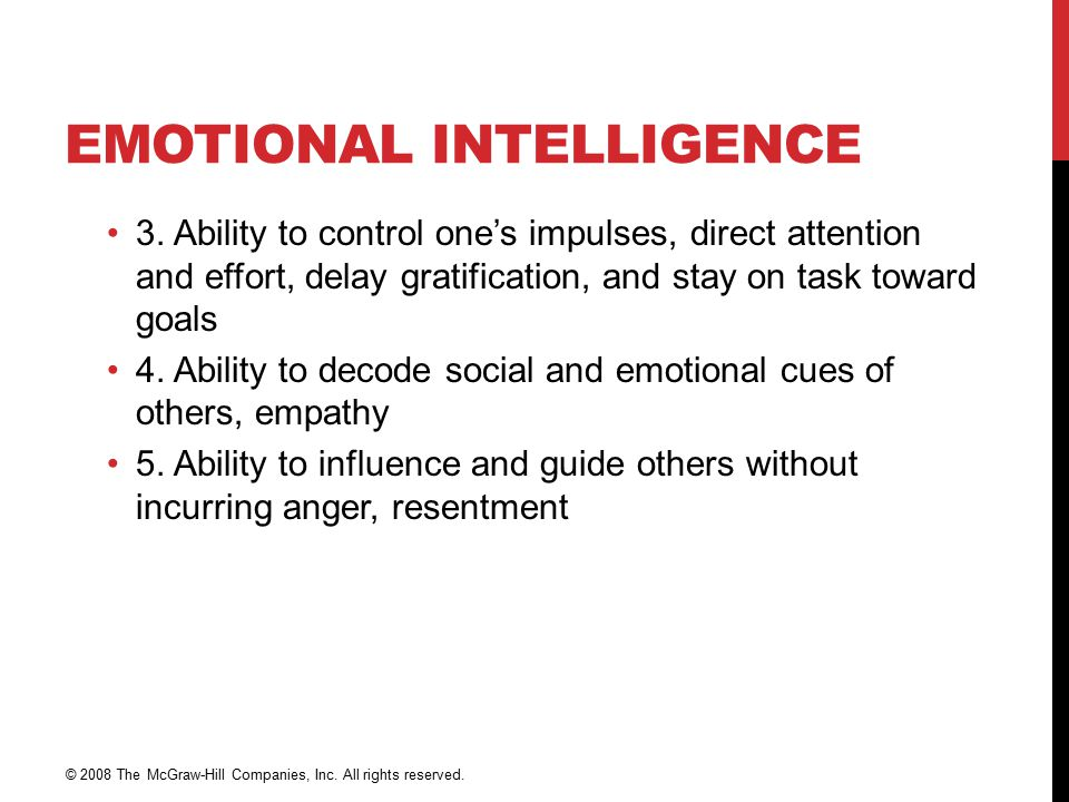 EMOTIONAL INTELLIGENCE 3.