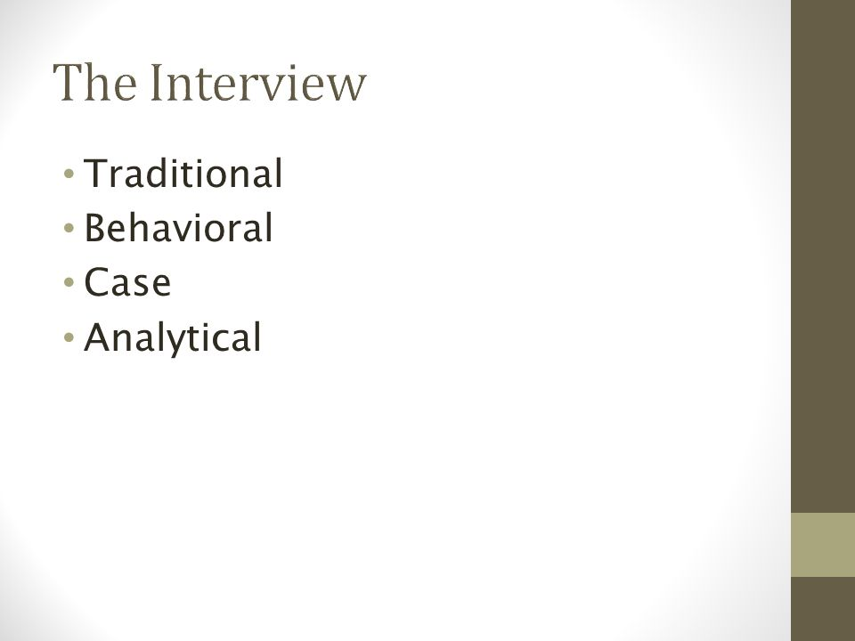Traditional Behavioral Case Analytical